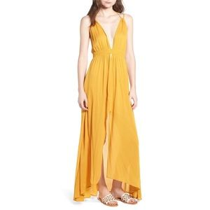 ASTR Gauze Crinkle Maxi Dress